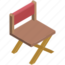 chair, director, entertainment, music, musicians chair, swivel, wood chair icon