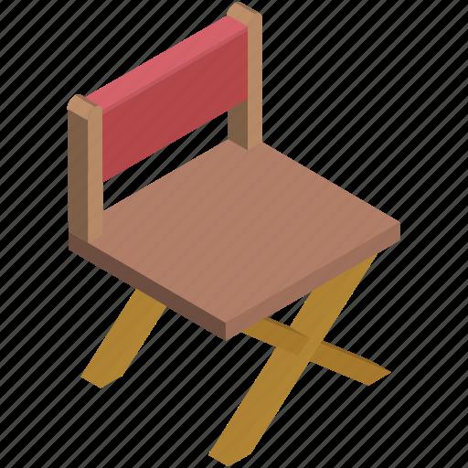 chair, director, entertainment, music, musicians chair, swivel, wood chair icon