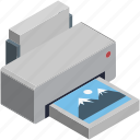 images printer, laser printers, photo printer, printer, printing machine icon