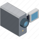 camcorder, camera, film, handycam, movie, video camera, video recording icon