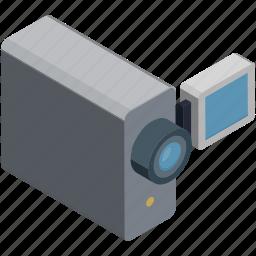 camcorder, camera, film, handycam, movie, video camera, video recording icon
