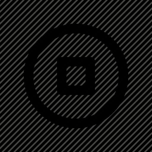 circle, media, multimedia, stop icon