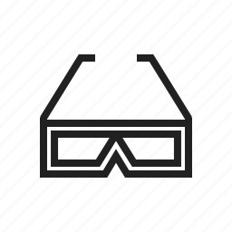 film, frame, glasses, movie, stereo, technology, view icon