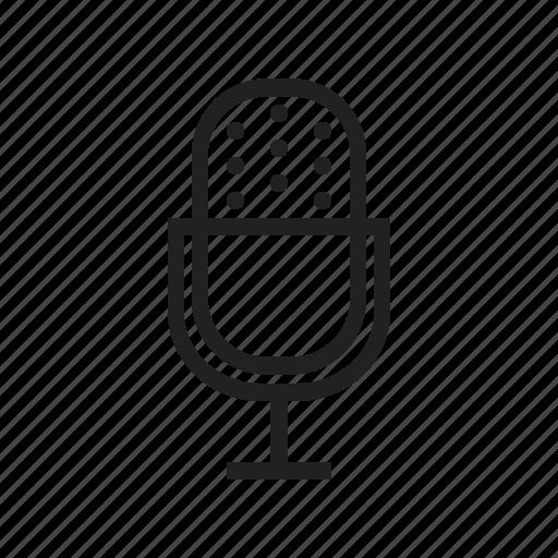 communication, microphone, music, performance, studio, wire icon