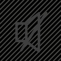 mute, mutedsound, sound, speaker icon