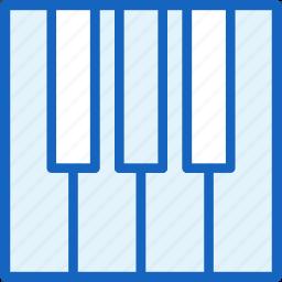multimeda, piano icon