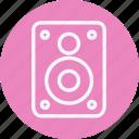 instrument, media, multimedia, music, photography, speaker, video icon