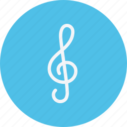 clef, instrument, media, multimedia, music, treble, video icon
