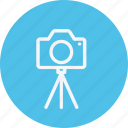 camera, instrument, media, multimedia, photography, tripod, video icon