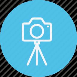 camera, instrument, media, multimedia, photography, tripod, video icon