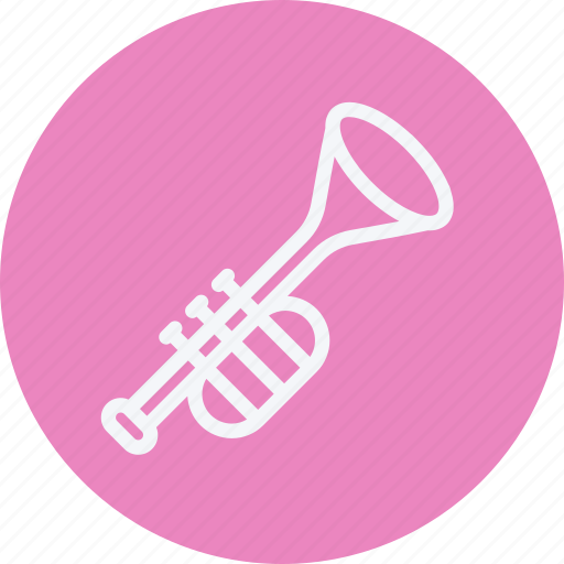 instrument, media, multimedia, music, photography, trumpet, video icon