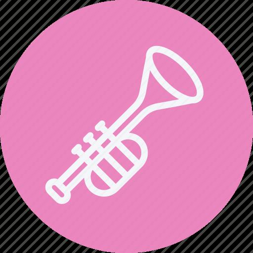 instrument, media, multimedia, music, photography, trumpet, video icon