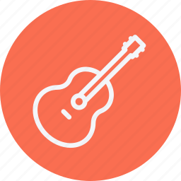 acoustic, guitar, instrument, media, multimedia, music, video icon