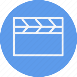 clapperboard, instrument, media, multimedia, music, photography, video icon