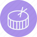 drum, instrument, media, multimedia, music, photography, video icon