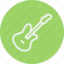 electric, guitar, instrument, media, multimedia, music, video icon