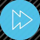 fast, forward, instrument, media, multimedia, music, video icon