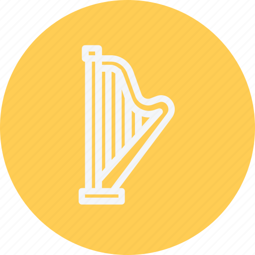 harp, instrument, media, multimedia, music, photography, video icon