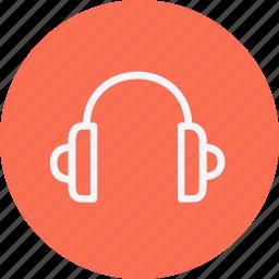 headphones, instrument, media, multimedia, music, photography, video icon