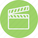 clapper, media, movie, multimedia, music, open, video icon
