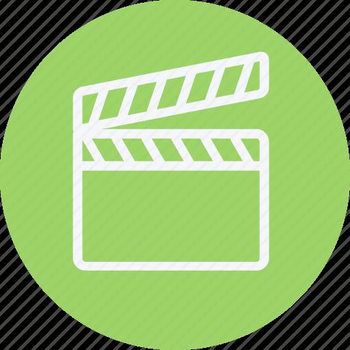 clapper, media, movie, multimedia, music, open, video icon