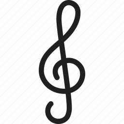 audio, clef, media, music, photography, treble, video icon