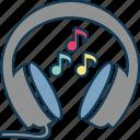 audio, earphone, headphone, headphone with notes, headset, sound icon