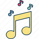 music note, eighth note, music, quaver icon