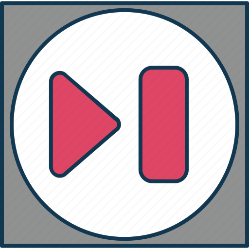 forward, forward arrow, forward button, next, play, right icon