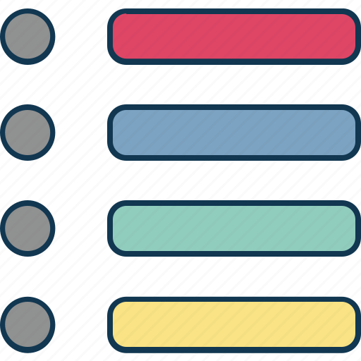 bullets sheet, checkbox, checklist, online checklist, online memo, web checklist icon