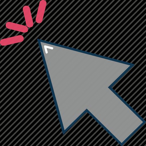 arrow, circle, mouse arrow, mouse click, pointing arrow icon
