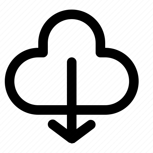 cloud, computing, download, server, storage icon