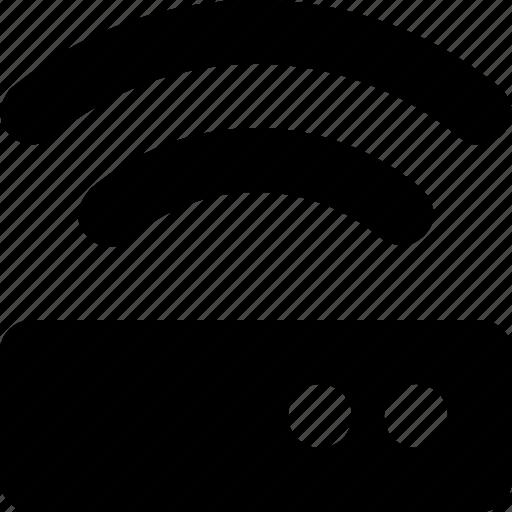 connection, internet, modem, network, signal, wifi, wireless icon