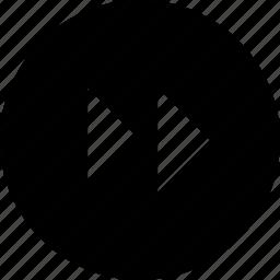 audio, circle, forward, video icon