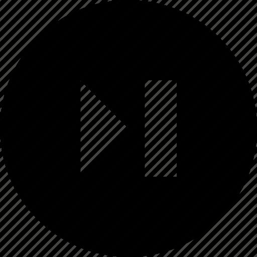 audio, circle, last, video icon