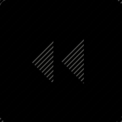 audio, backward, square, video icon