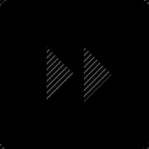 audio, forward, square, video icon