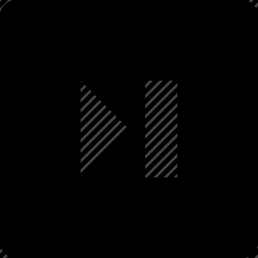 audio, last, square, video icon