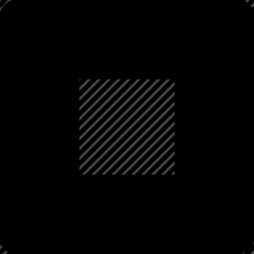 audio, square, stop, video icon