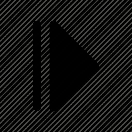 forward, media, move, multimedia, music, next, player icon