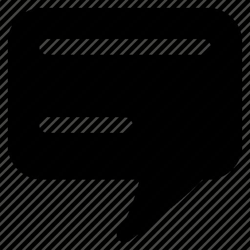 description, message, subs, subtitle, text, title icon