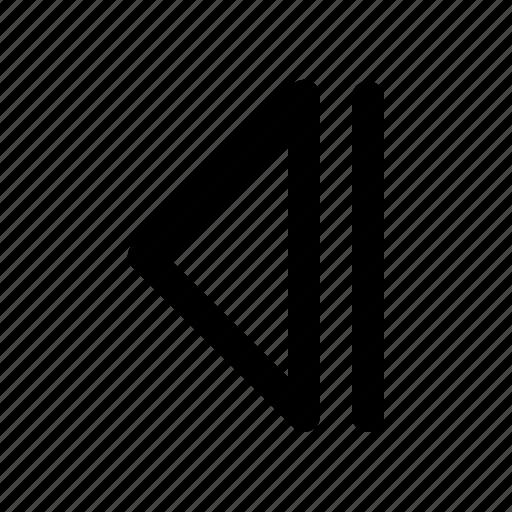 audio, backward, multimedia, music, player, previous, sound icon