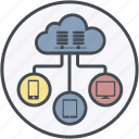 cloud, database, development, hosting, internet icon