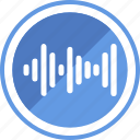 analyze, music, sound, wave icon