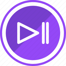 audio, melody, music, paly, pause, song, sound icon