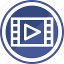 extension, file, media, mp4, player, type, video icon