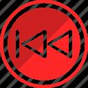 backward, fast, fastbackward, sound icon