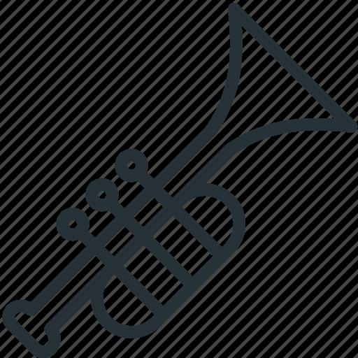 multimeda, trumpet icon