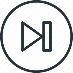 end, multimeda, next icon