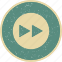 forward, media player, next arrows icon